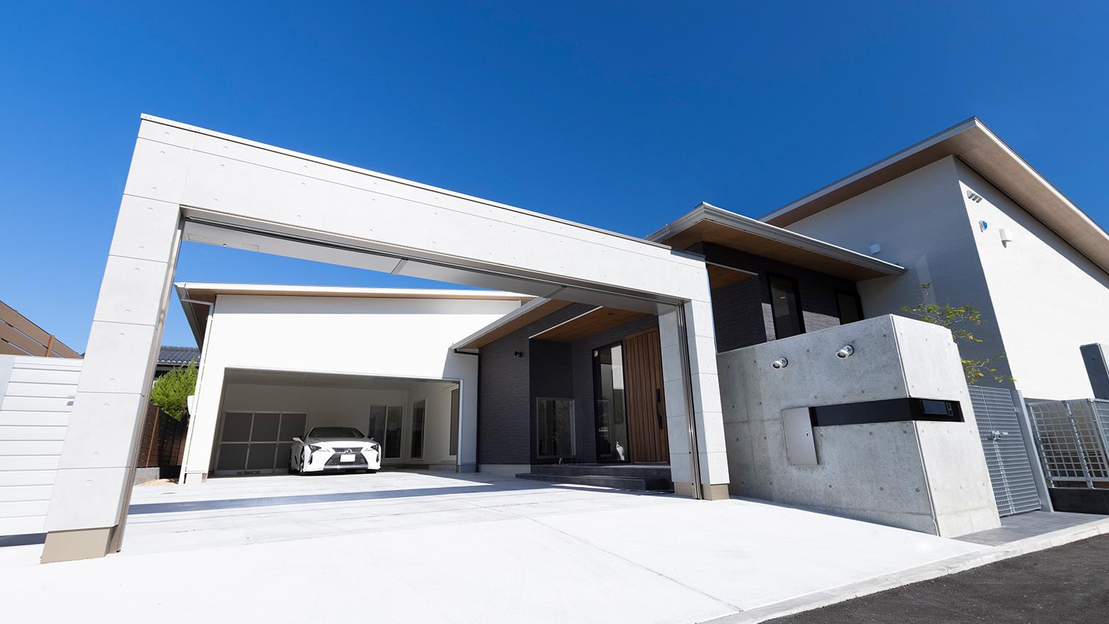 新築住宅ガレージ
