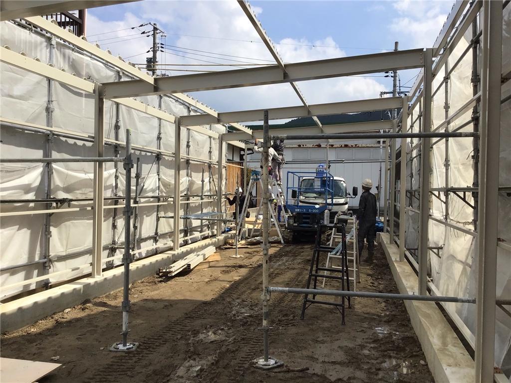練習場増築工事
